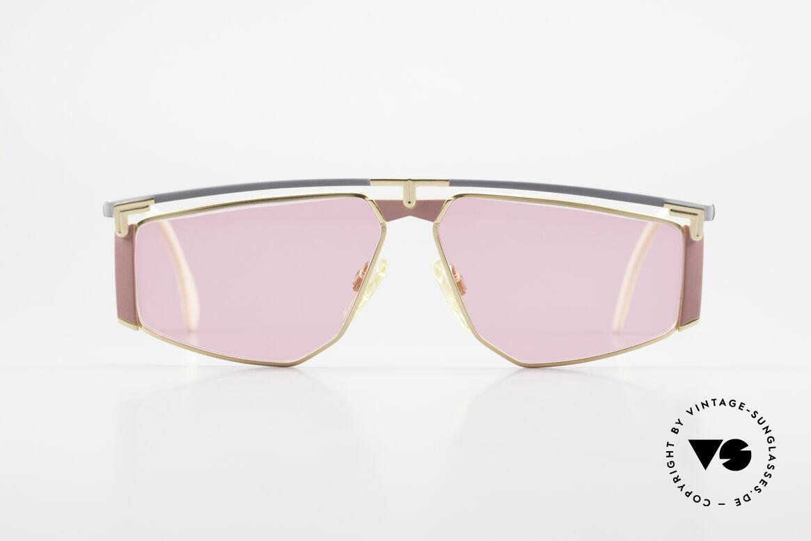 Cazal 235 Pinke Titanium Vintage Brille, Titanium-Rahmen wiegt nur 18g (hoher Tragekomfort), Passend für Herren und Damen