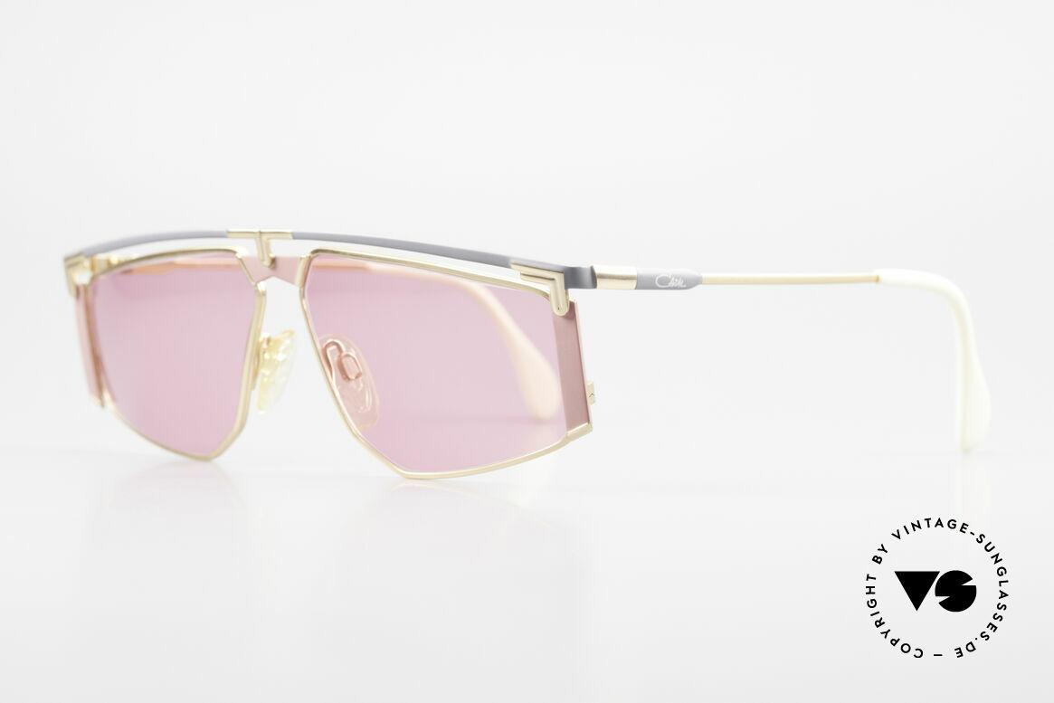Cazal 235 Pinke Titanium Vintage Brille, markantes Design (unverwechselbar Mr. CAri ZALloni), Passend für Herren und Damen