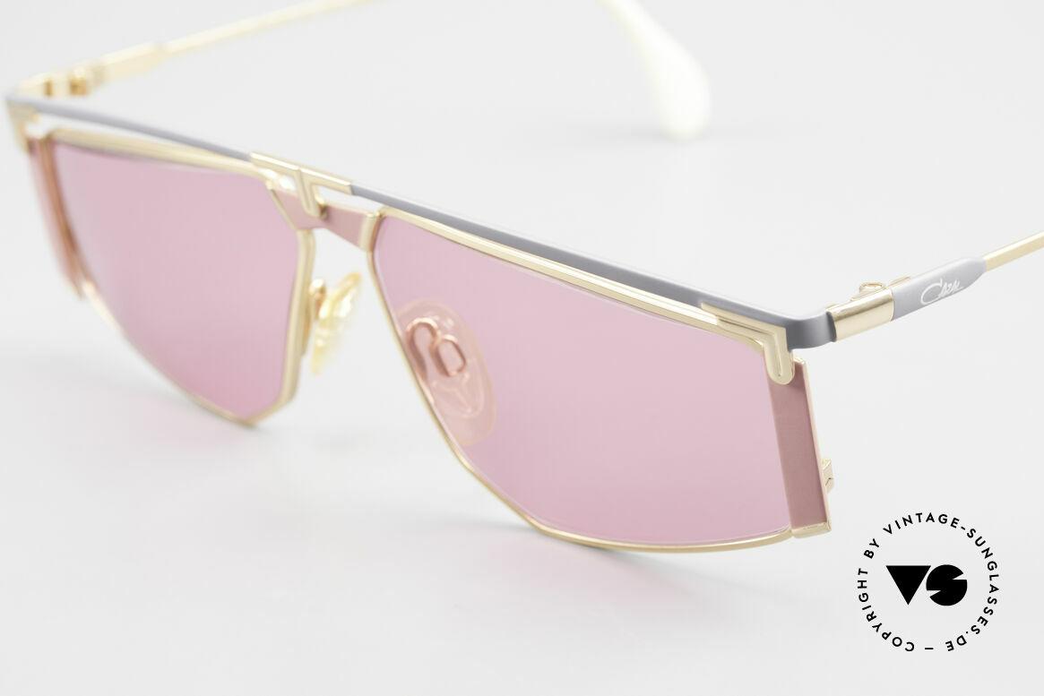 Cazal 235 Pinke Titanium Vintage Brille, damals fester Bestandteil der amerik. Hip-Hop Szene, Passend für Herren und Damen