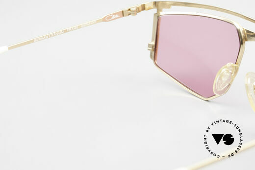 Cazal 235 Pinke Titanium Vintage Brille, KEINE Retrobrille; ein echtes altes Cazal ORIGINAL!!, Passend für Herren und Damen