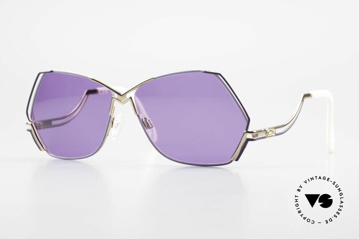 Cazal 226 Vintage Sonnenbrille Damen, außergewöhnliche, fünfeckige CAZAL Designerbrille, Passend für Damen