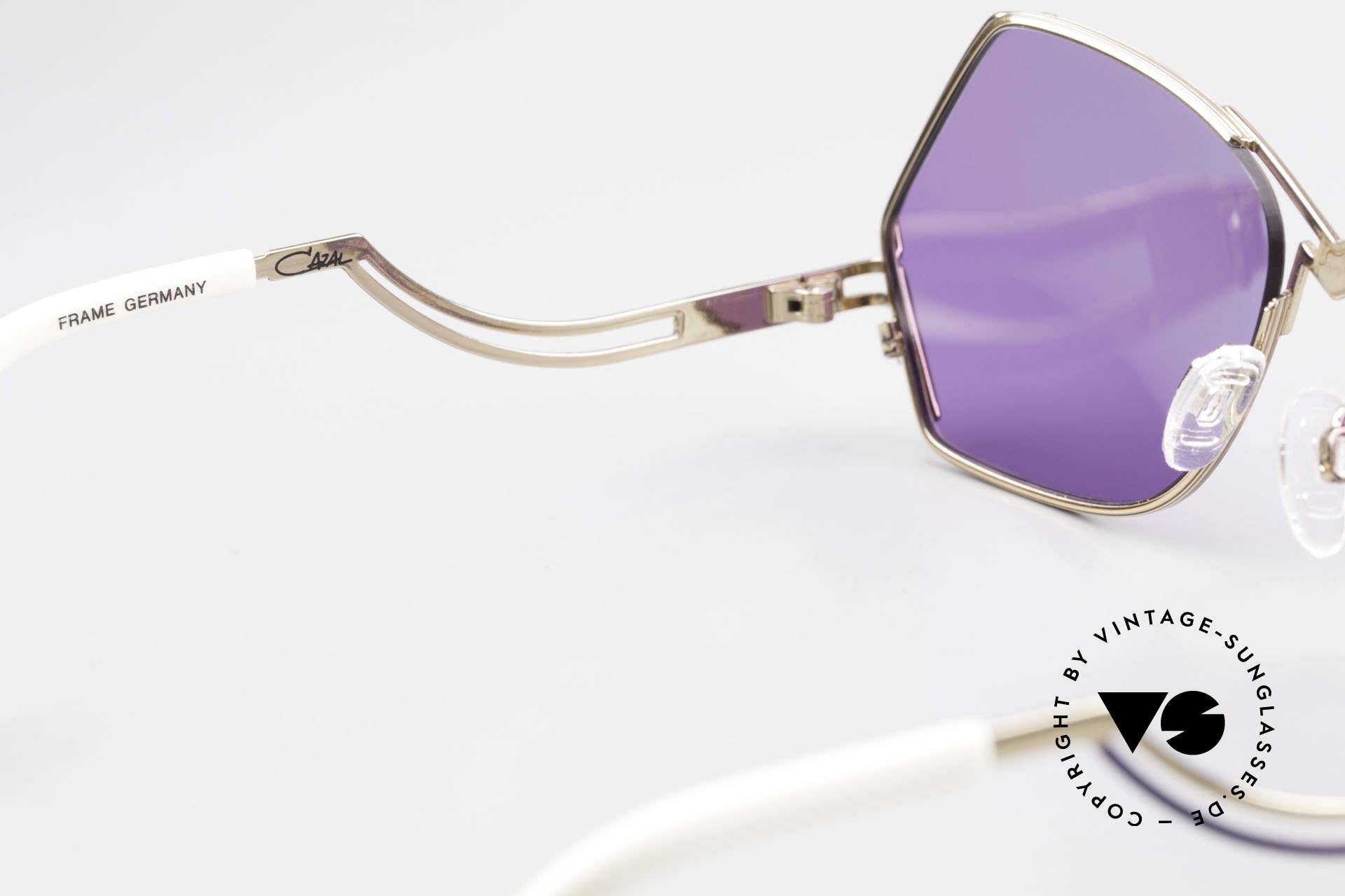 Cazal 226 Vintage Sonnenbrille Damen, lila Sonnengläser (100% UV) könnten getauscht werden, Passend für Damen