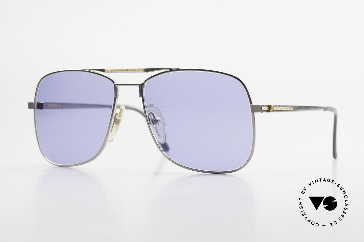 Dunhill 6038 18kt Gold Titanium 80er Brille, A. DUNHILL Titan-Sonnenbrille mit 18kt Gold-Dekor, Passend für Herren