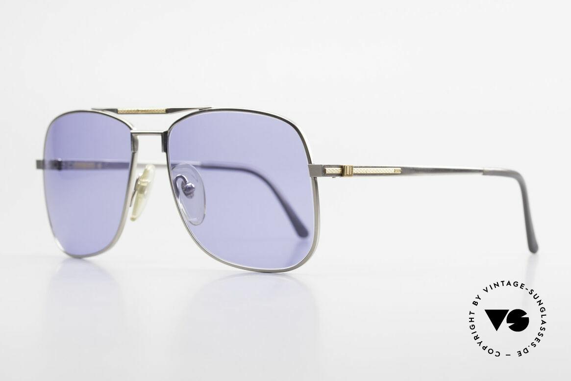 Dunhill 6038 18kt Gold Titanium 80er Brille, Produktionskosten 1986 für dieses Modell = 120,- DM, Passend für Herren