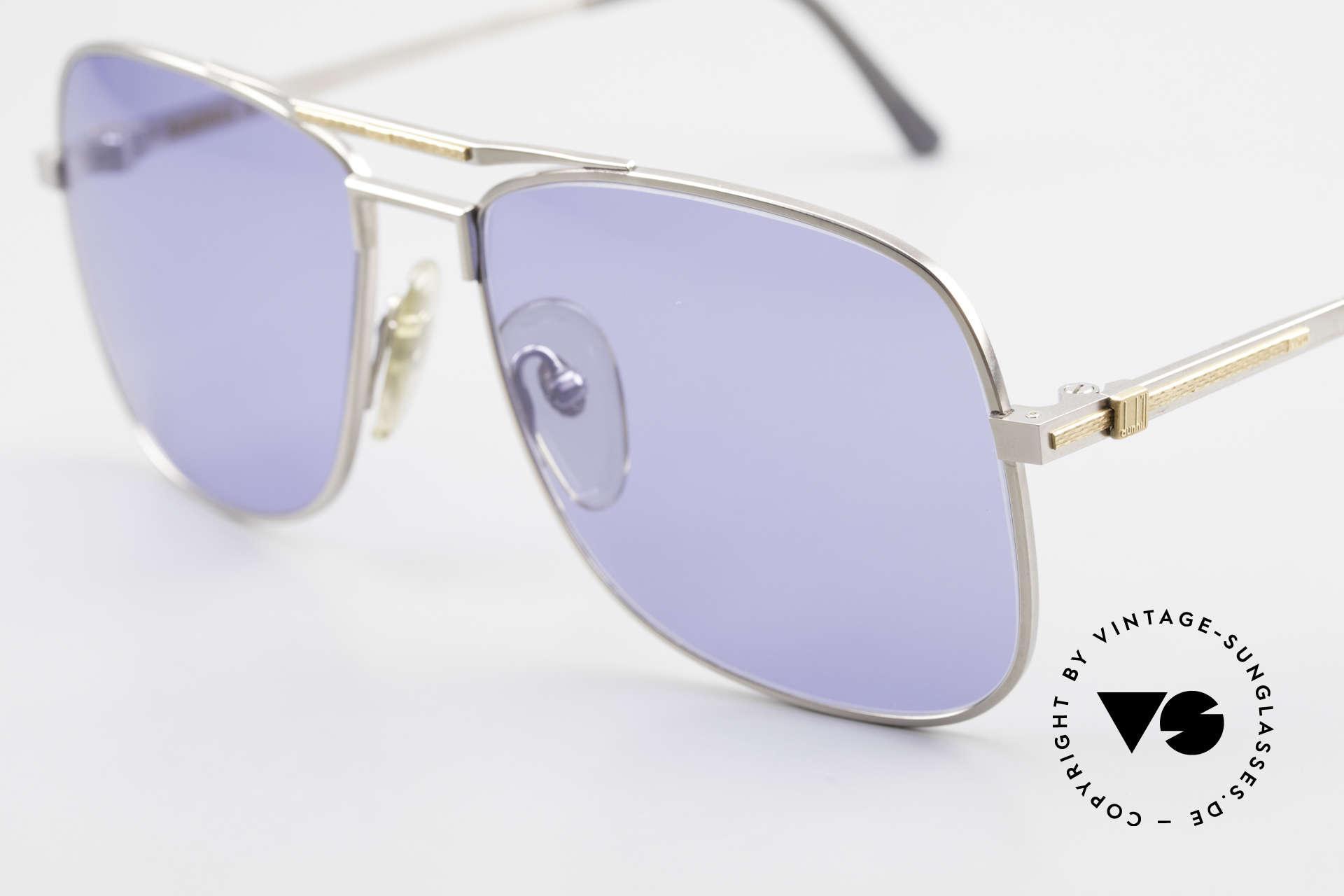 Dunhill 6038 18kt Gold Titanium 80er Brille, (heute werden Designerbrillen für <5,00 € produziert), Passend für Herren