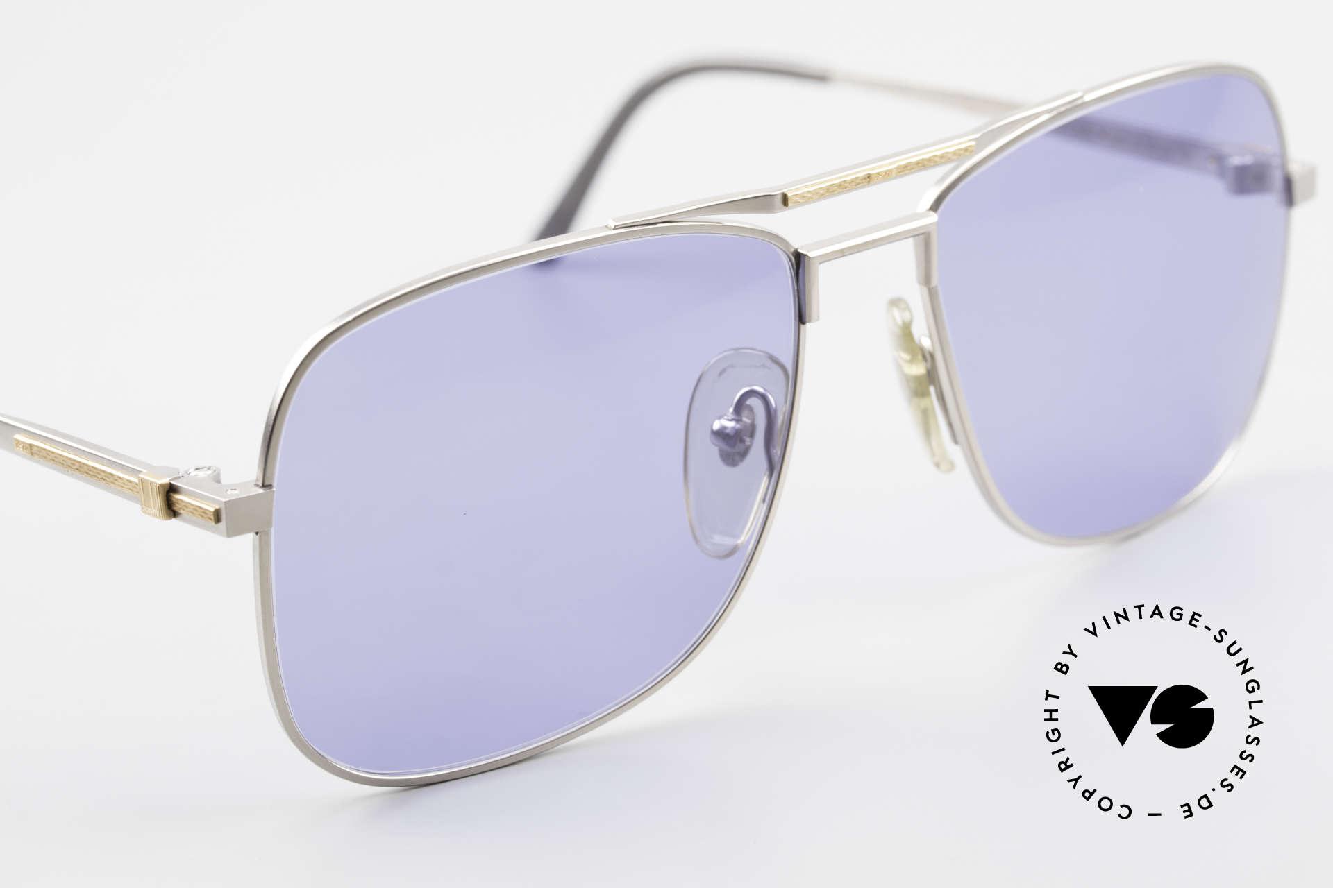 Dunhill 6038 18kt Gold Titanium 80er Brille, Fertigungskosten waren auch abhängig vom Goldpreis, Passend für Herren