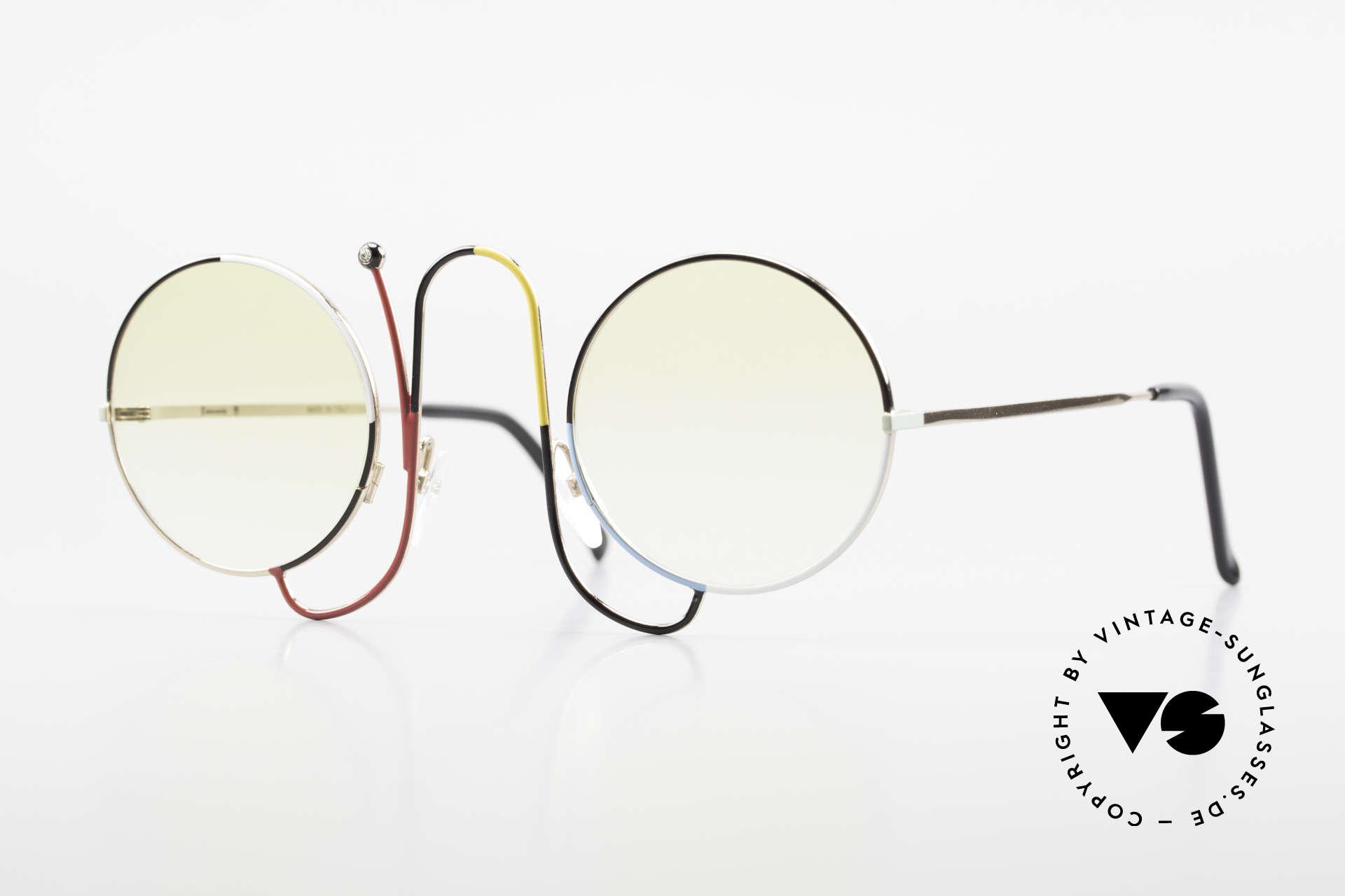 Casanova CMR 1 Rare 80er Kunst Sonnenbrille, zauberhafte Casanova Brille von ca. 1985, Passend für Damen