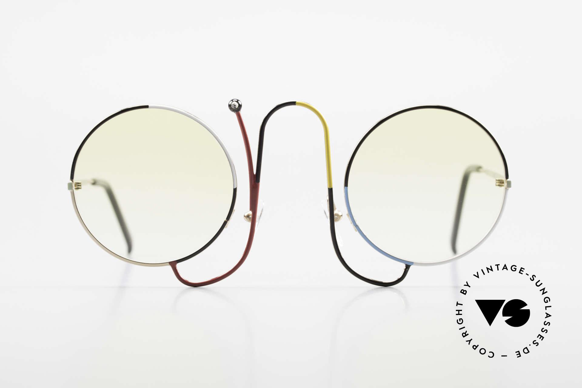 Casanova CMR 1 Rare 80er Kunst Sonnenbrille, helle Gläser (auch bei Dämmerung tragbar), Passend für Damen