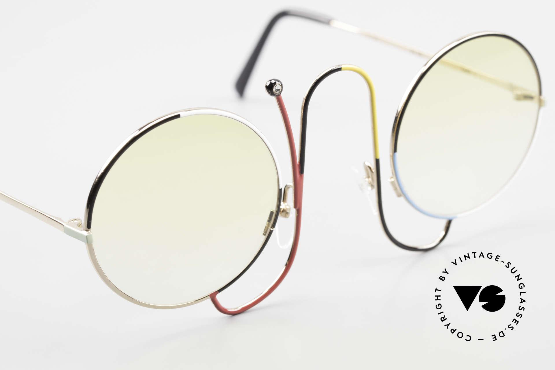 Casanova CMR 1 Rare 80er Kunst Sonnenbrille, eigentlich unbezahlbar (gehört ins Museum), Passend für Damen