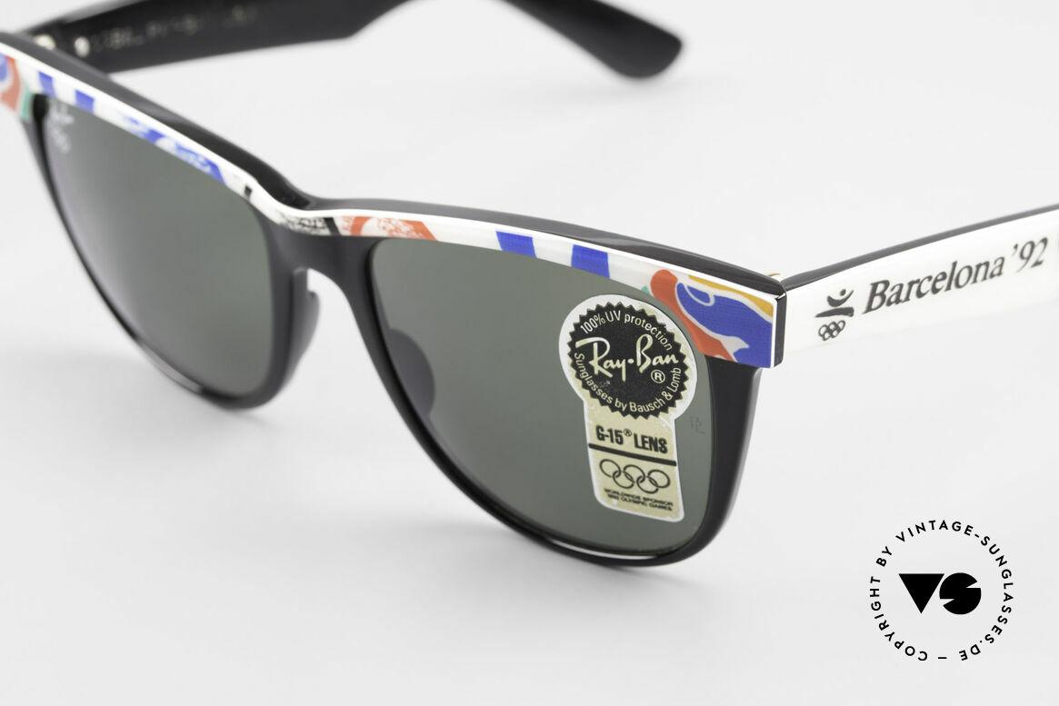 Ray Ban Wayfarer II Olympia Brille 1992 Barcelona, B&L Bausch&Lomb Qualitätsgläser (100% UV-Schutz), Passend für Herren und Damen