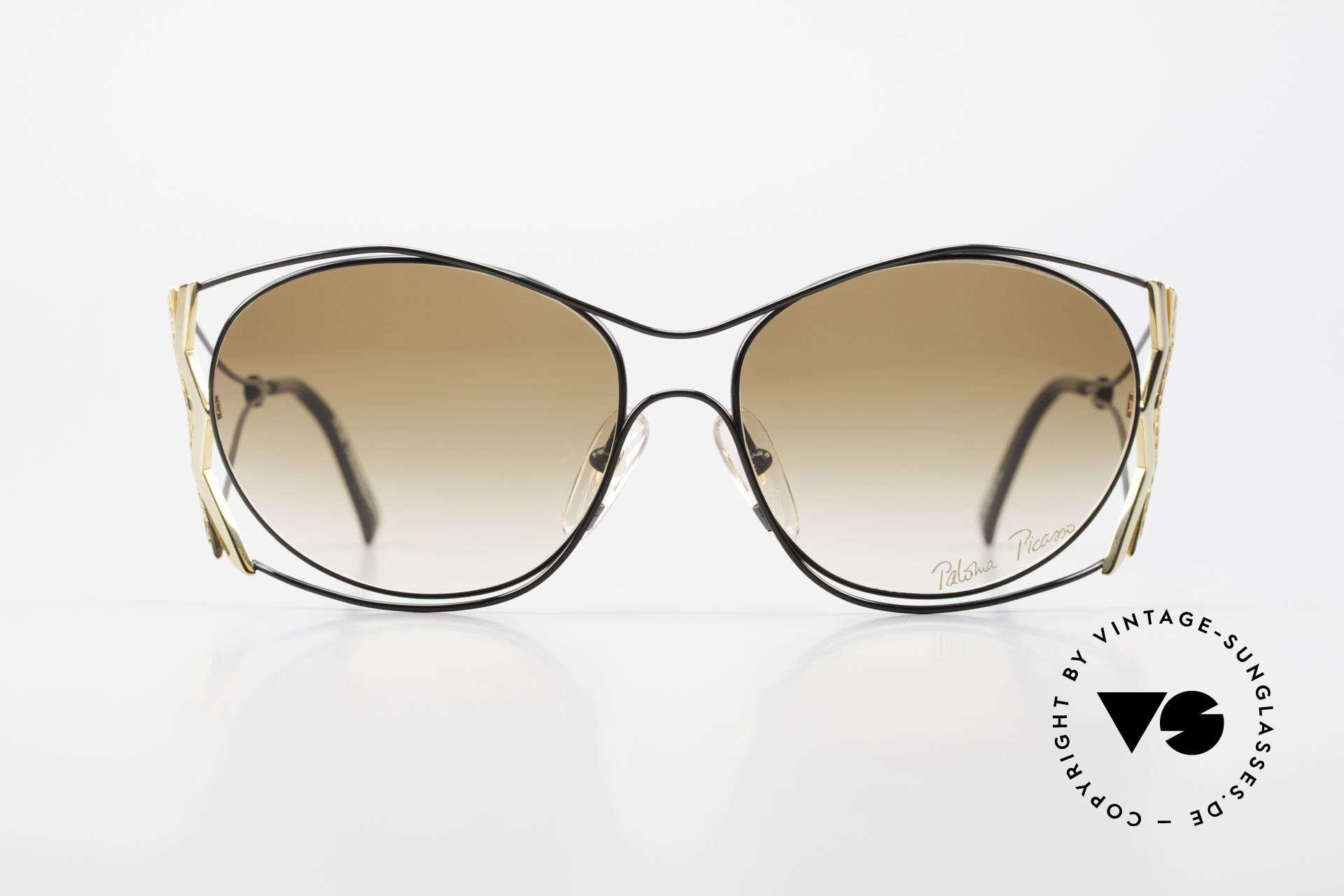 Paloma Picasso 3707 Strass Damensonnenbrille 90er, verspielt und elegant zugleich; einfach zauberhaft, Passend für Damen