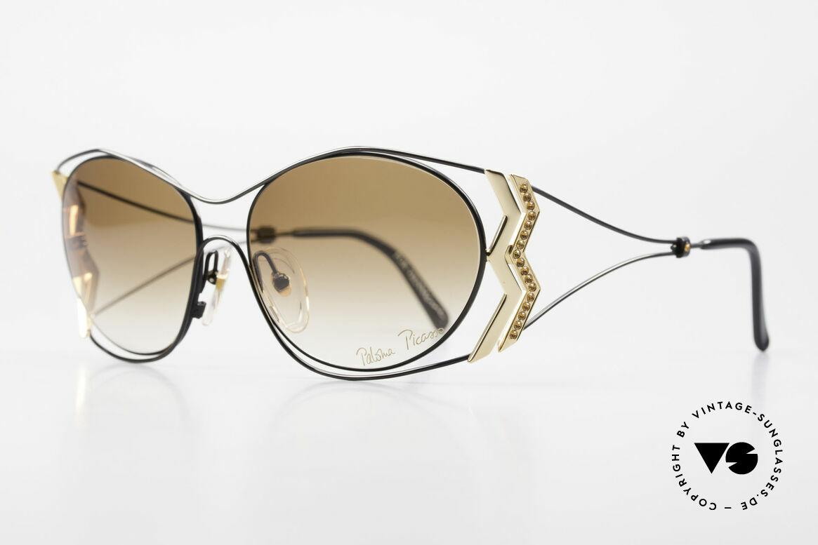 Paloma Picasso 3707 Strass Damensonnenbrille 90er, das wahrscheinlich schönste Modell von Paloma P., Passend für Damen