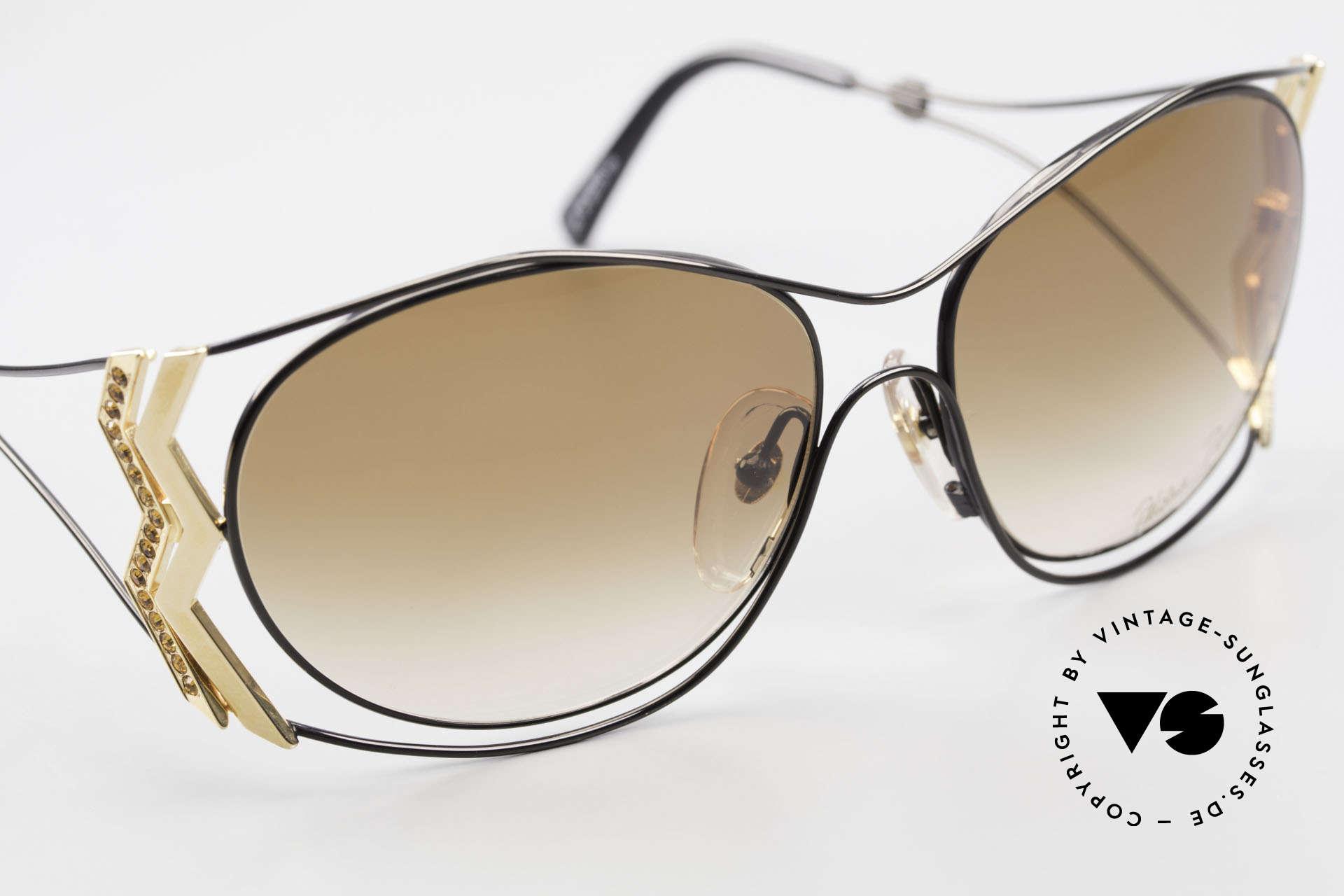 Paloma Picasso 3707 Strass Damensonnenbrille 90er, KEINE retro Sonnenbrille; ein vintage 90er Original, Passend für Damen