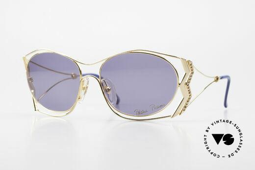 Paloma Picasso 3707 90er Sonnenbrille Vergoldet Details