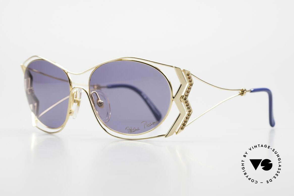 Paloma Picasso 3707 90er Sonnenbrille Vergoldet, das wahrscheinlich schönste Modell von Paloma P., Passend für Damen