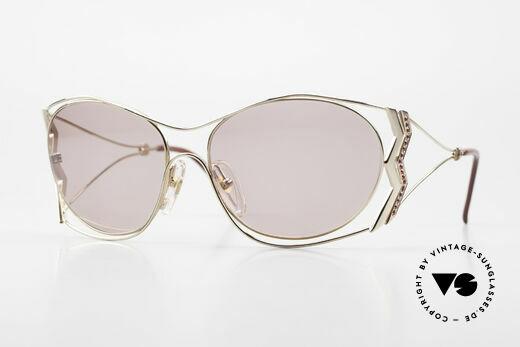 Paloma Picasso 3707 90er Sonnenbrille Mit Strass Details