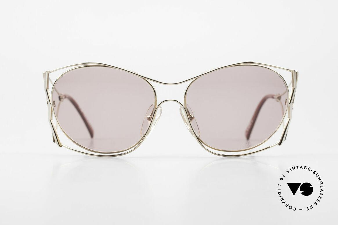 Paloma Picasso 3707 90er Sonnenbrille Mit Strass, verspielt und elegant zugleich; einfach zauberhaft, Passend für Damen