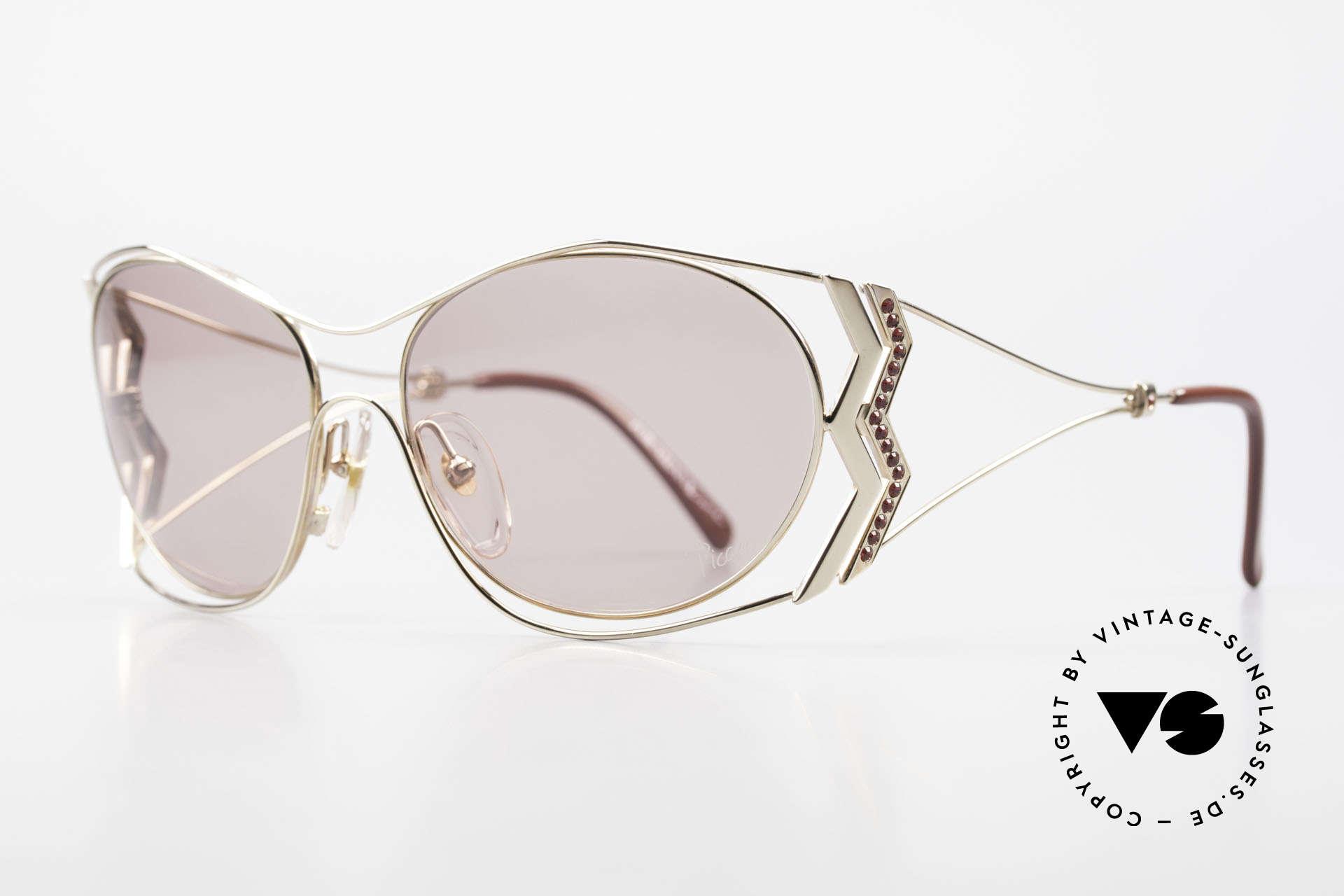 Paloma Picasso 3707 90er Sonnenbrille Mit Strass, das wahrscheinlich schönste Modell von Paloma P., Passend für Damen