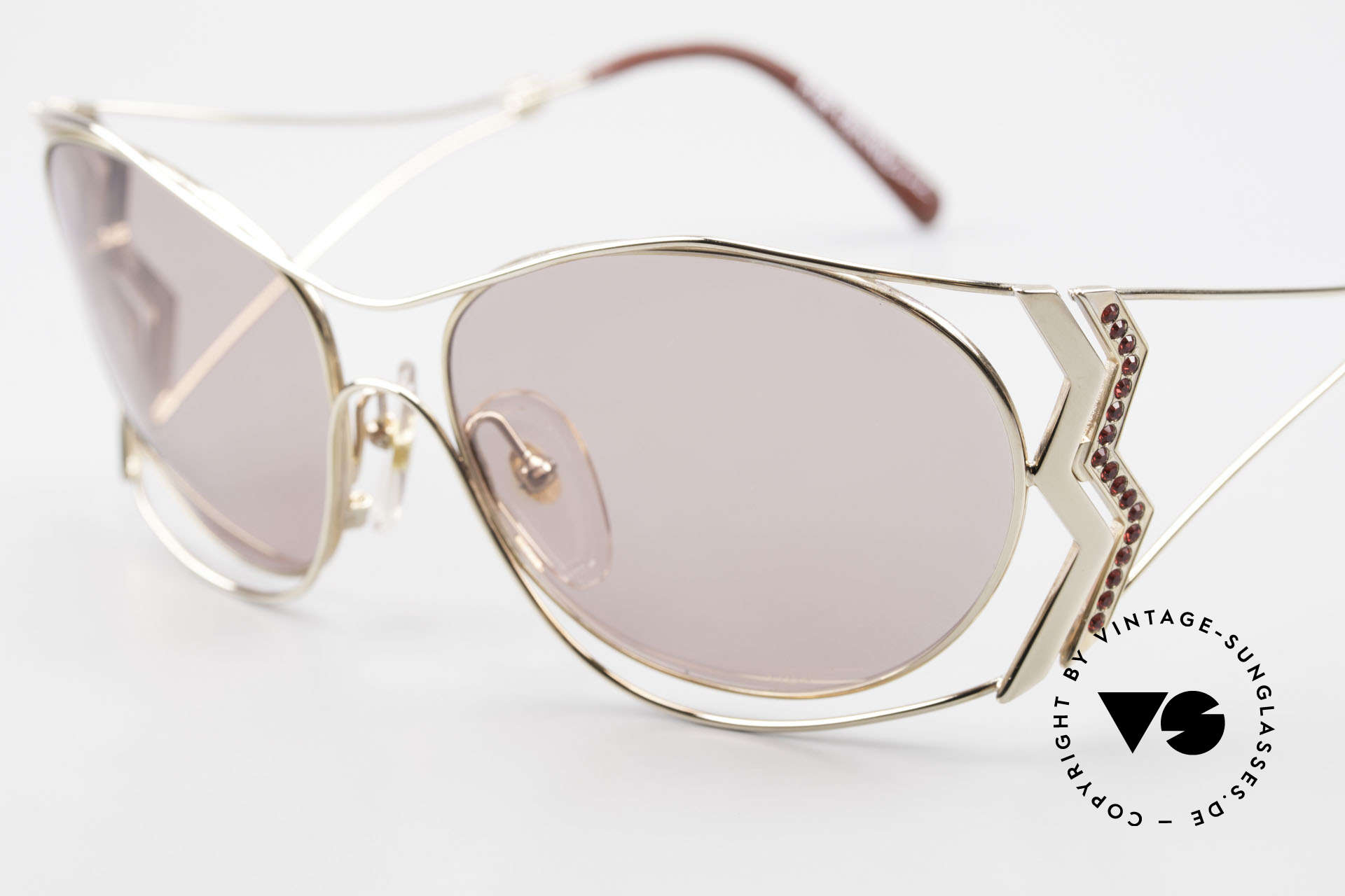 Paloma Picasso 3707 90er Sonnenbrille Mit Strass, ungetragenes Modell mit original Etui von Picasso, Passend für Damen