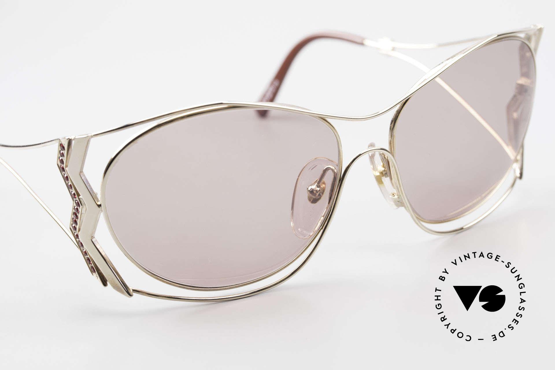 Paloma Picasso 3707 90er Sonnenbrille Mit Strass, KEINE retro Sonnenbrille; ein vintage 90er Original, Passend für Damen