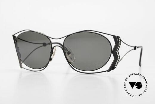 Paloma Picasso 3707 1990er Sonnenbrille Kristall Details