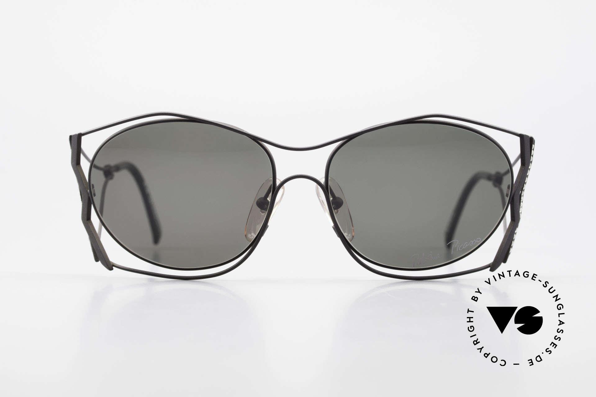 Paloma Picasso 3707 1990er Sonnenbrille Kristall, verspielt und elegant zugleich; einfach zauberhaft, Passend für Damen