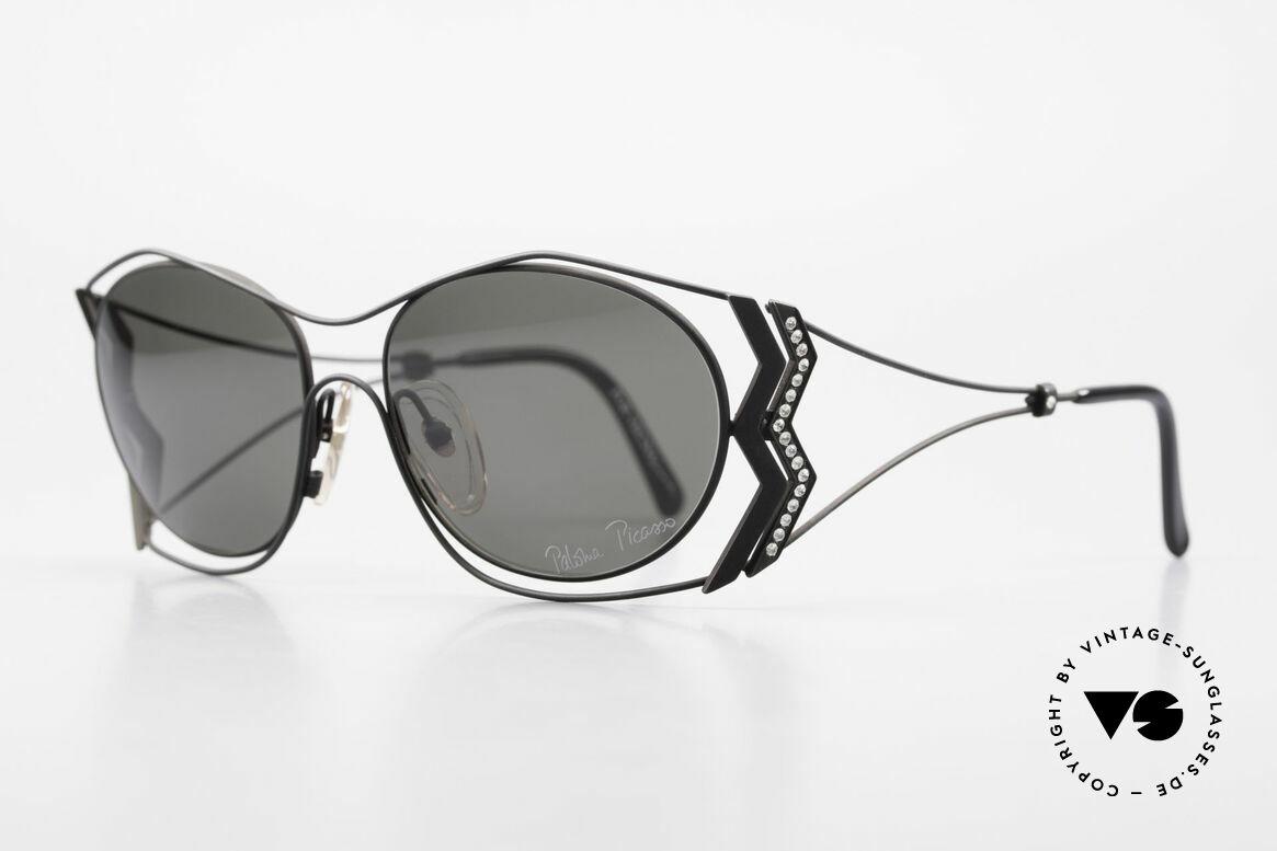 Paloma Picasso 3707 1990er Sonnenbrille Kristall, das wahrscheinlich schönste Modell von Paloma P., Passend für Damen