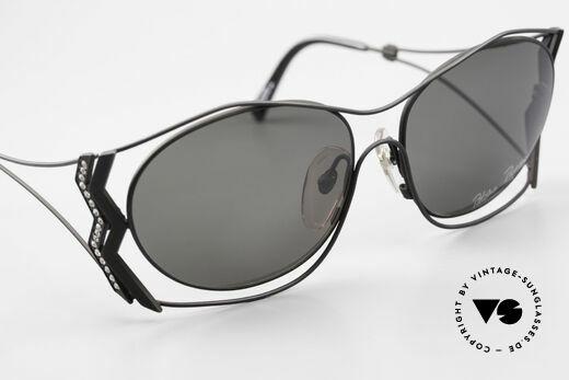 Paloma Picasso 3707 1990er Sonnenbrille Kristall, KEINE retro Sonnenbrille; ein vintage 90er Original, Passend für Damen