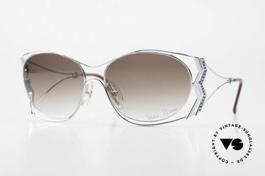 Paloma Picasso 3707 90er Strass-Sonnenbrille Capri Details