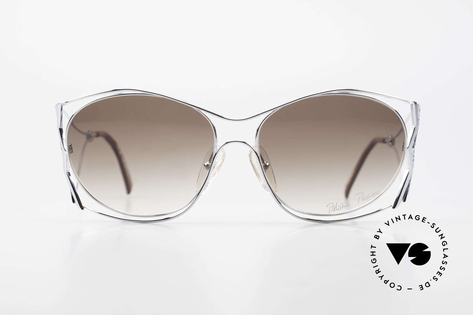 Paloma Picasso 3707 90er Strass-Sonnenbrille Capri, verspielt und elegant zugleich; einfach zauberhaft, Passend für Damen