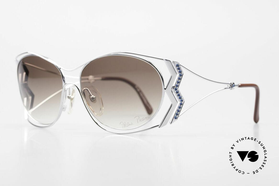 Paloma Picasso 3707 90er Strass-Sonnenbrille Capri, das wahrscheinlich schönste Modell von Paloma P., Passend für Damen