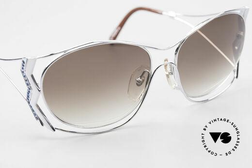 Paloma Picasso 3707 90er Strass-Sonnenbrille Capri, KEINE retro Sonnenbrille; ein vintage 90er Original, Passend für Damen