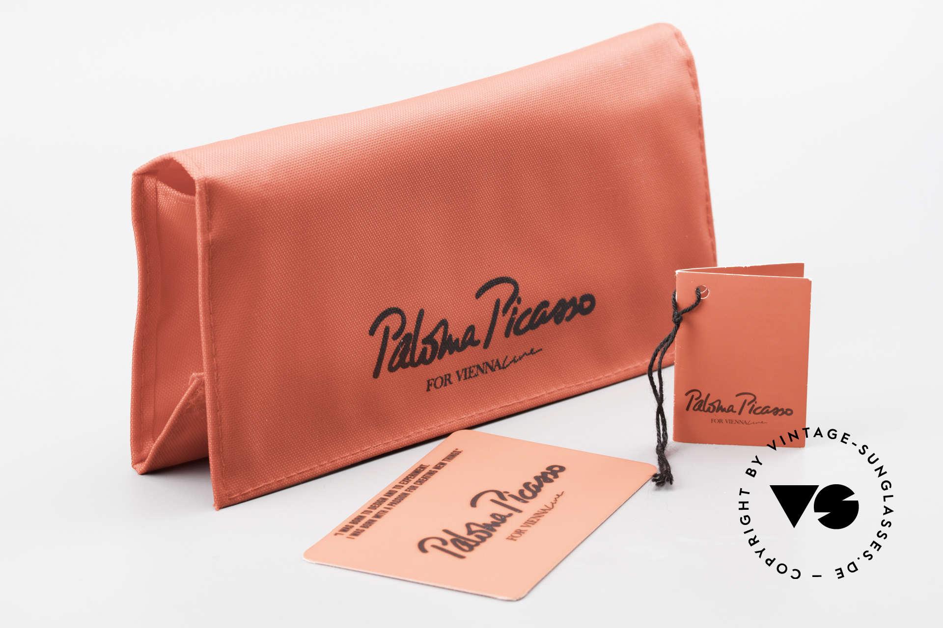 Paloma Picasso 3707 90er Strass-Sonnenbrille Capri, Größe: medium, Passend für Damen