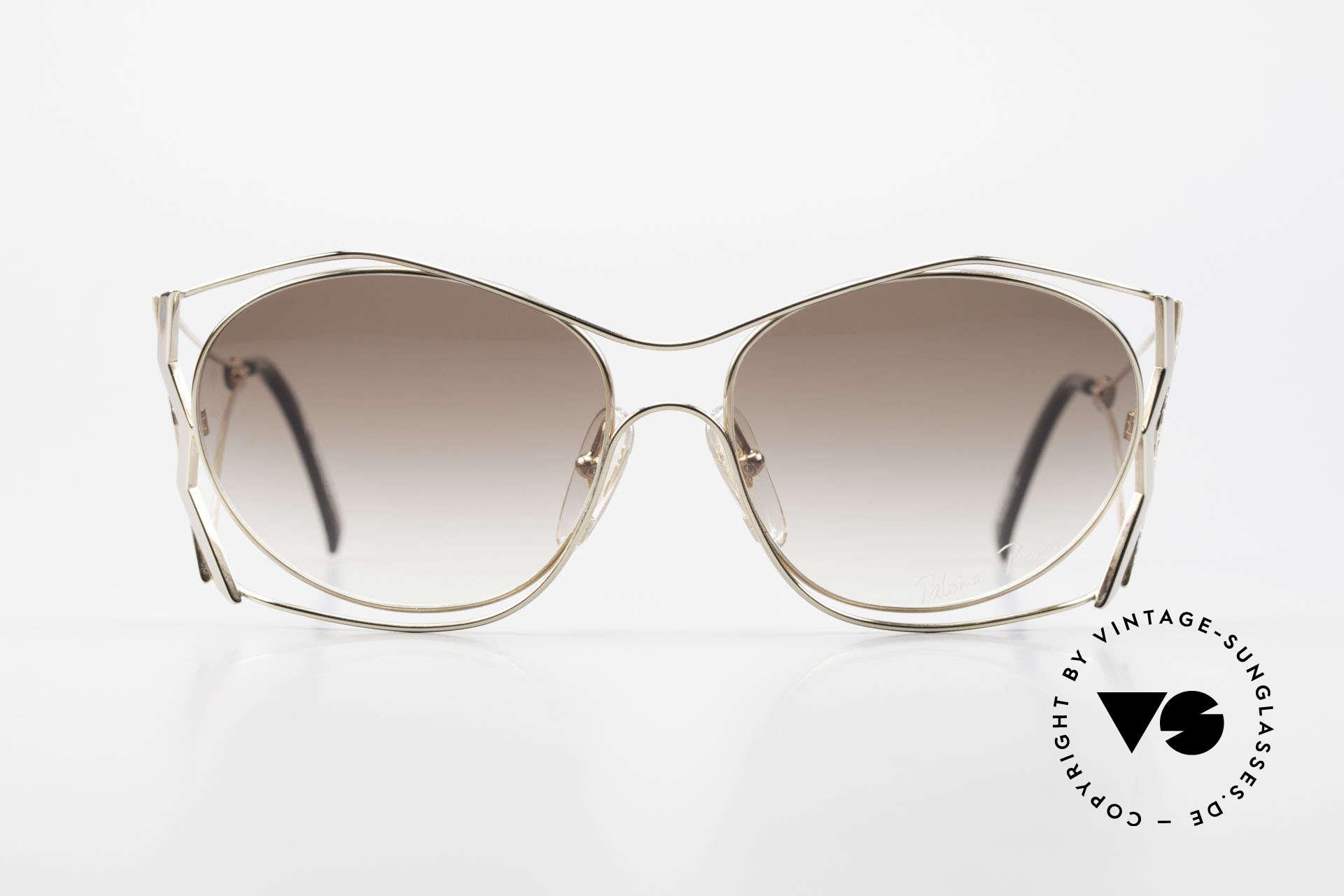 Paloma Picasso 3707 Vergoldete 90er Brille Kristall, verspielt und elegant zugleich; einfach zauberhaft, Passend für Damen
