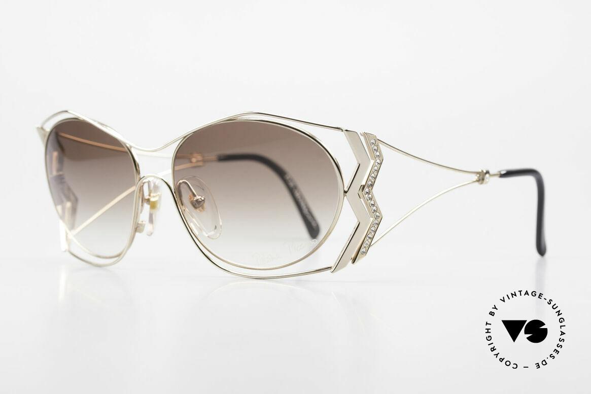 Paloma Picasso 3707 Vergoldete 90er Brille Kristall, das wahrscheinlich schönste Modell von Paloma P., Passend für Damen