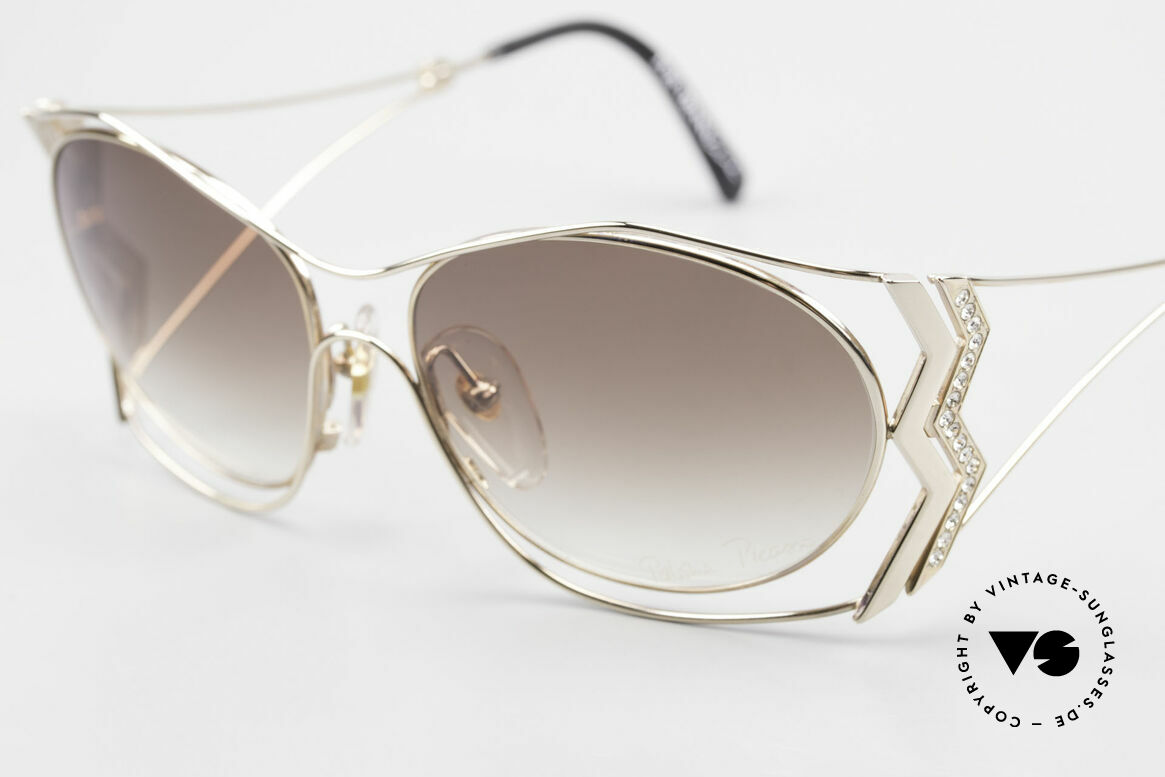 Paloma Picasso 3707 Vergoldete 90er Brille Kristall, ungetragenes Modell mit original Etui von Picasso, Passend für Damen