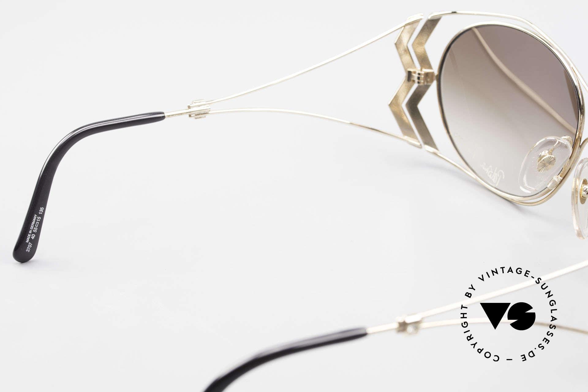 Paloma Picasso 3707 Vergoldete 90er Brille Kristall, Größe: medium, Passend für Damen