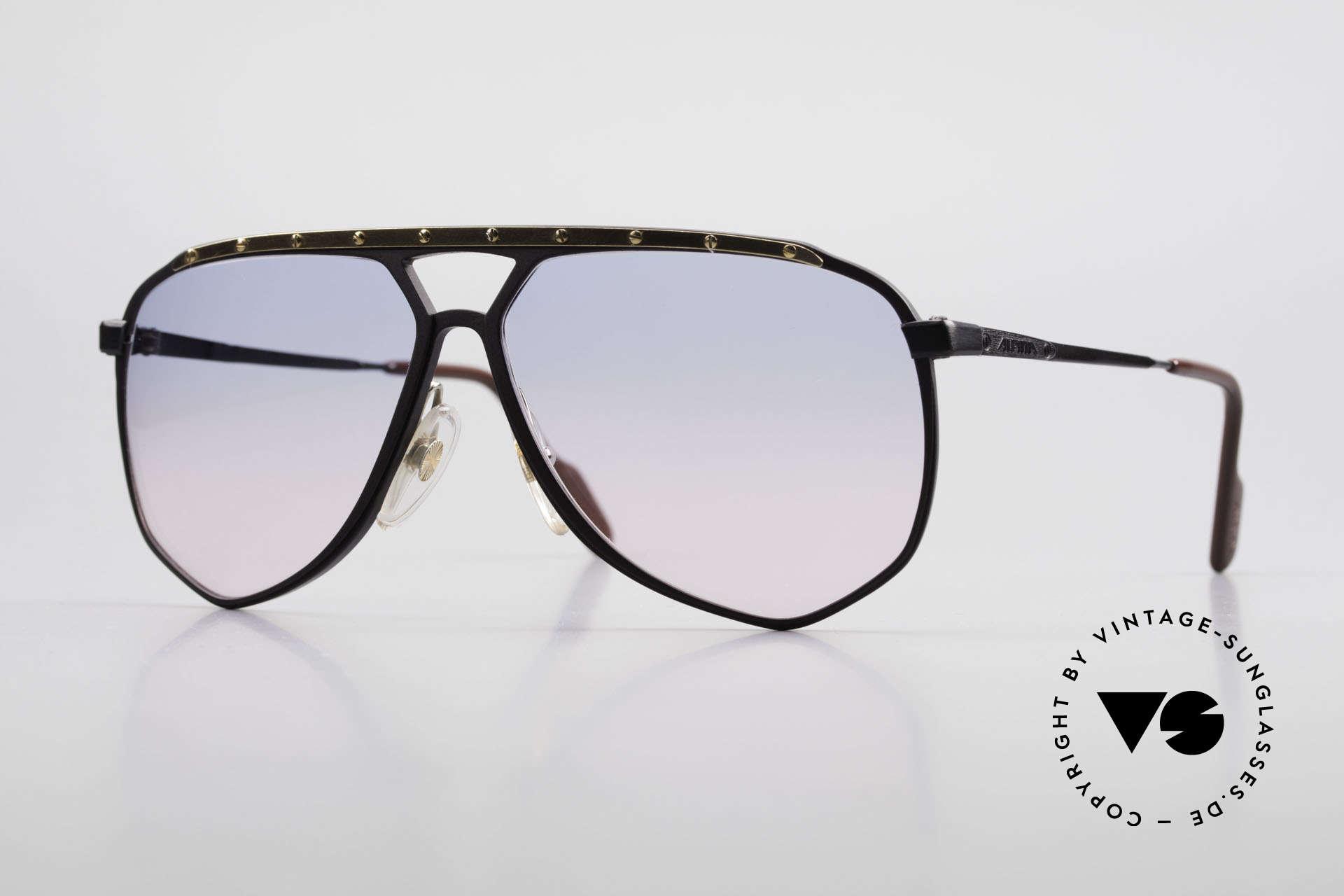 Alpina M1/4 Alte 80er Brille Baby-Blau Pink, M1/4 die Modifikation der legendären ALPINA M1, Passend für Herren
