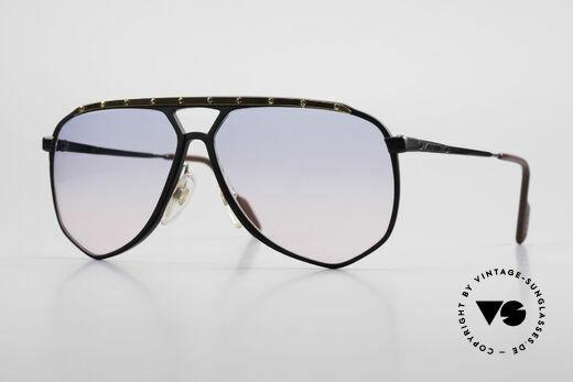 Alpina M1/4 Alte 80er Brille Baby-Blau Pink Details