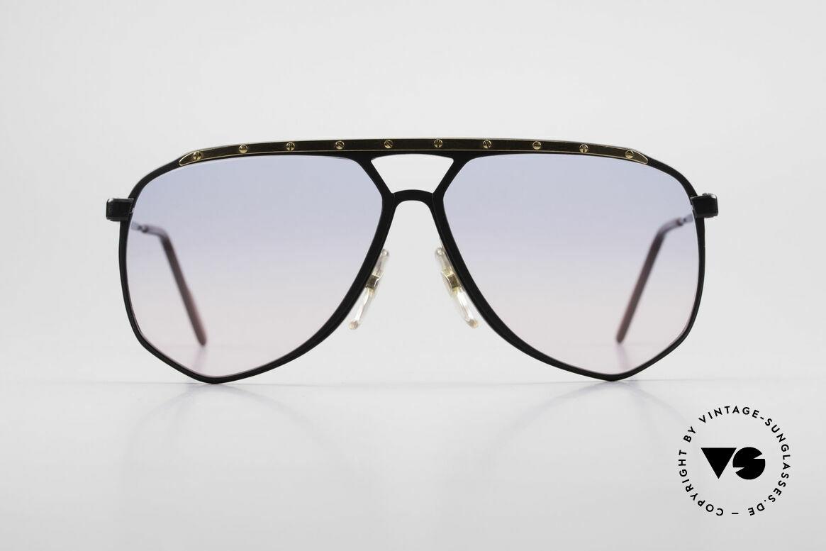 Alpina M1/4 Alte 80er Brille Baby-Blau Pink, ebenso handgefertigt; jedoch erst um 1989/1990, Passend für Herren