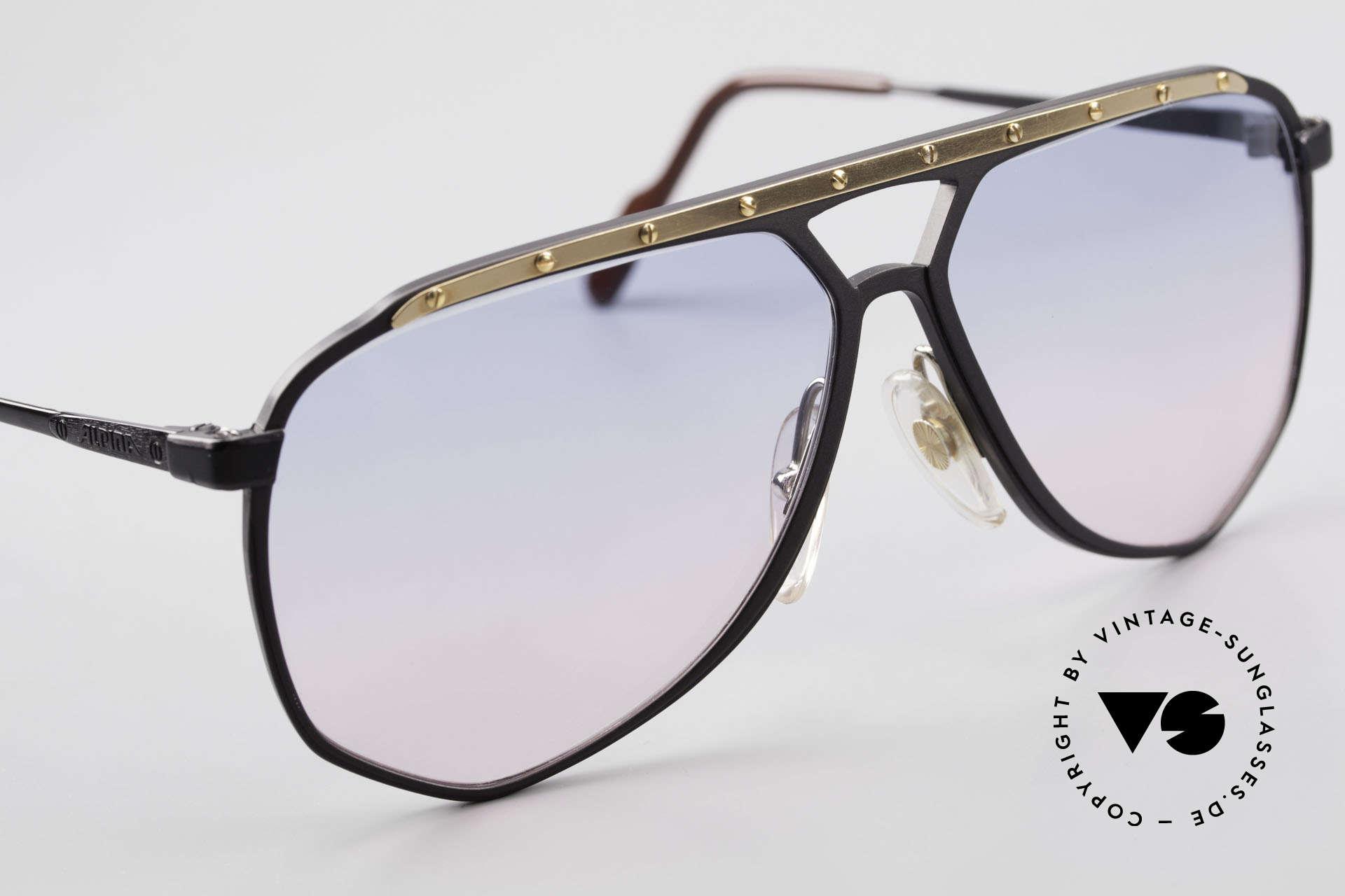 Alpina M1/4 Alte 80er Brille Baby-Blau Pink, KEINE RETROBRILLE; das 30 Jahre alte ORIGINAL, Passend für Herren