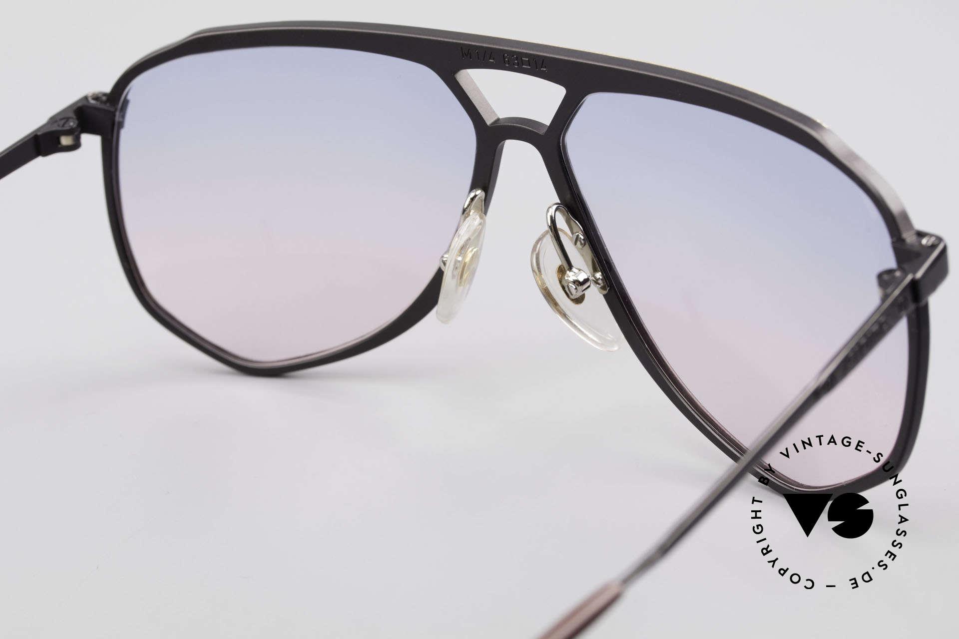 Alpina M1/4 Alte 80er Brille Baby-Blau Pink, die Fassung kann ggf. auch optisch verglast werden, Passend für Herren