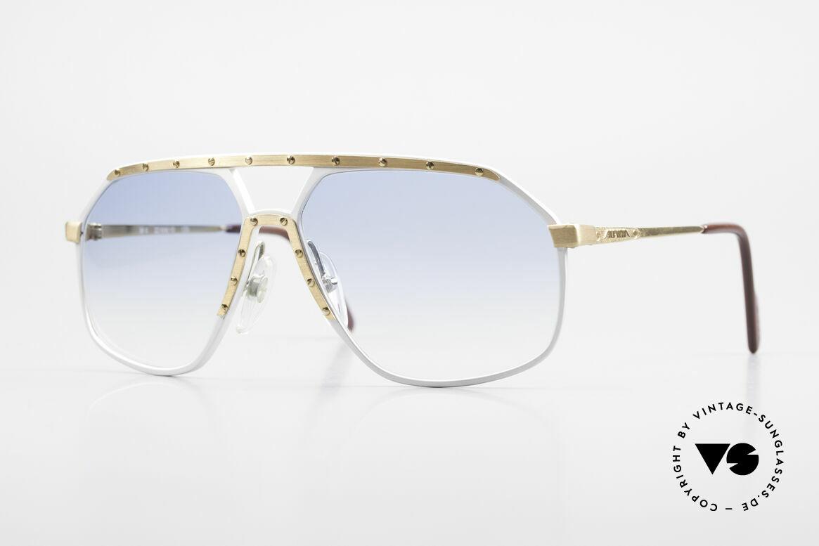Alpina M6 80er Sonnenbrillen Klassiker, alte Alpina M6 vintage Sonnenbrille, West Germany, Passend für Herren