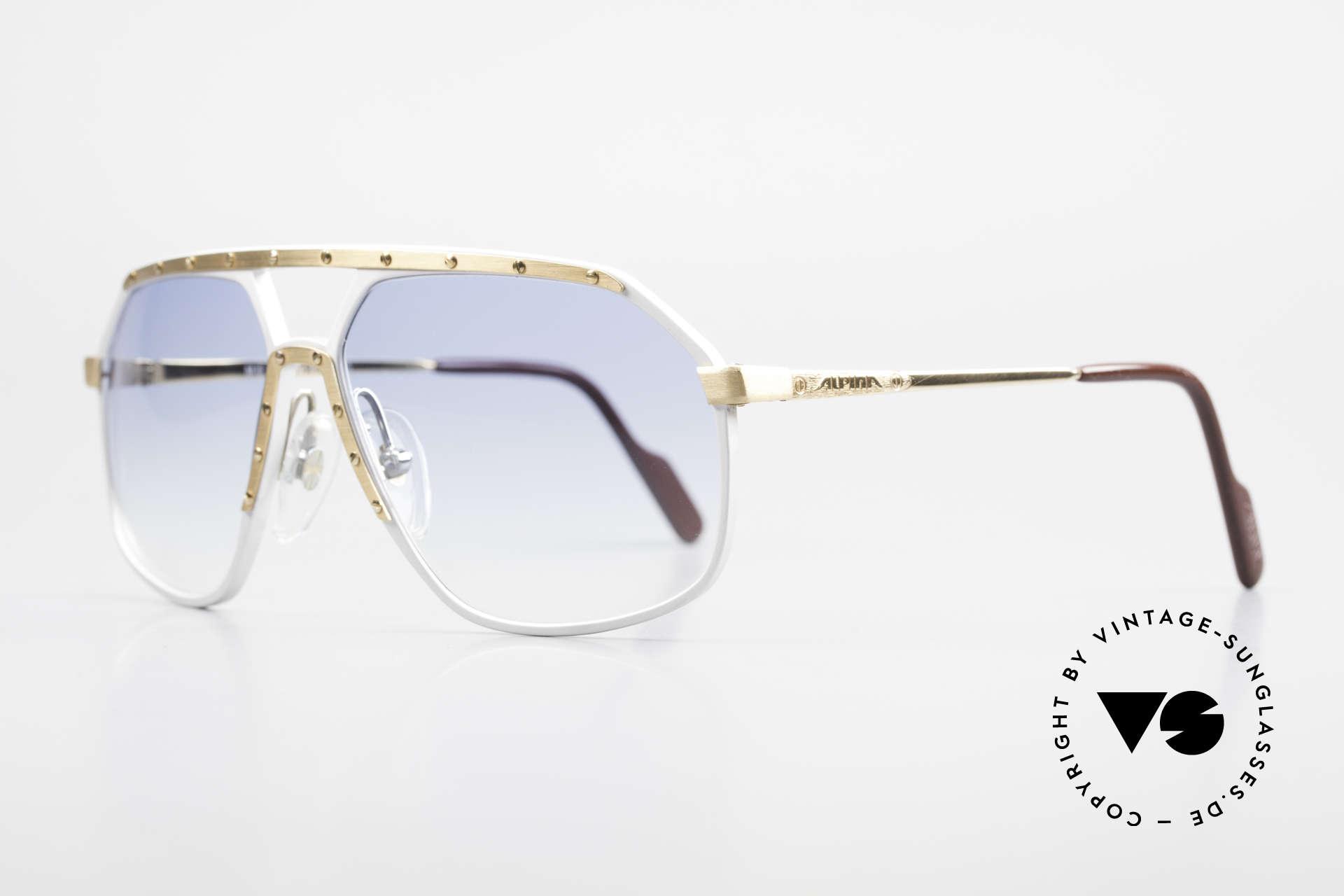 Alpina M6 80er Sonnenbrillen Klassiker, weltberühmt für sein Schrauben-Design; Gr. 60-14, Passend für Herren