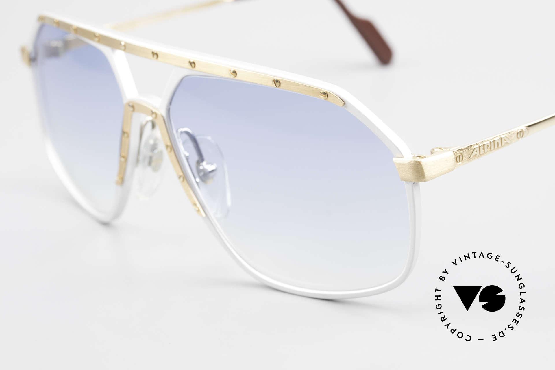 Alpina M6 80er Sonnenbrillen Klassiker, handgefertigt; entsprechend kostbar und hochwertig, Passend für Herren