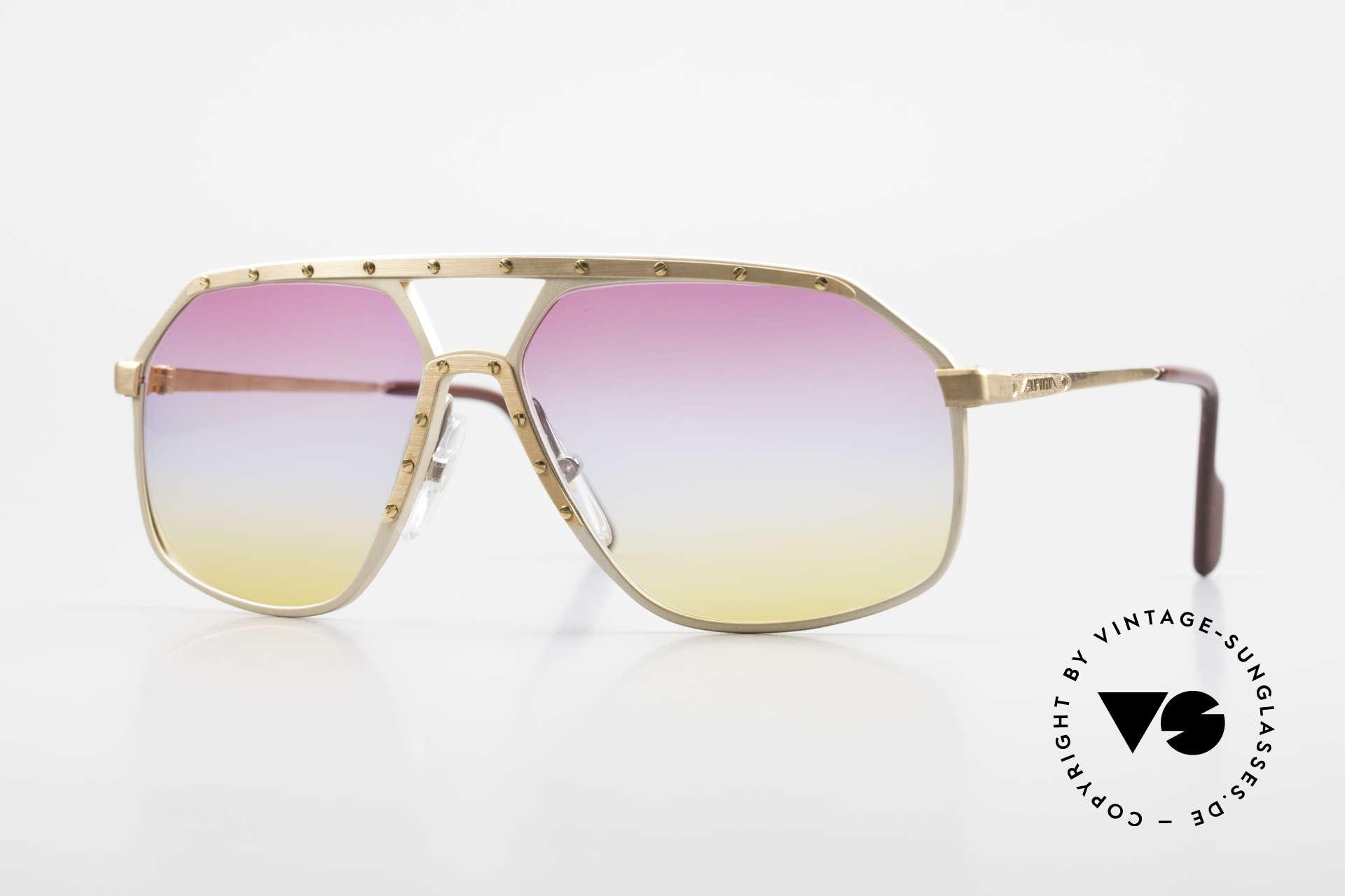 Alpina M6 80er Brillenklassiker Sunset, alte Alpina M6 VINTAGE Brille mit Sunset Gläsern, Passend für Herren und Damen