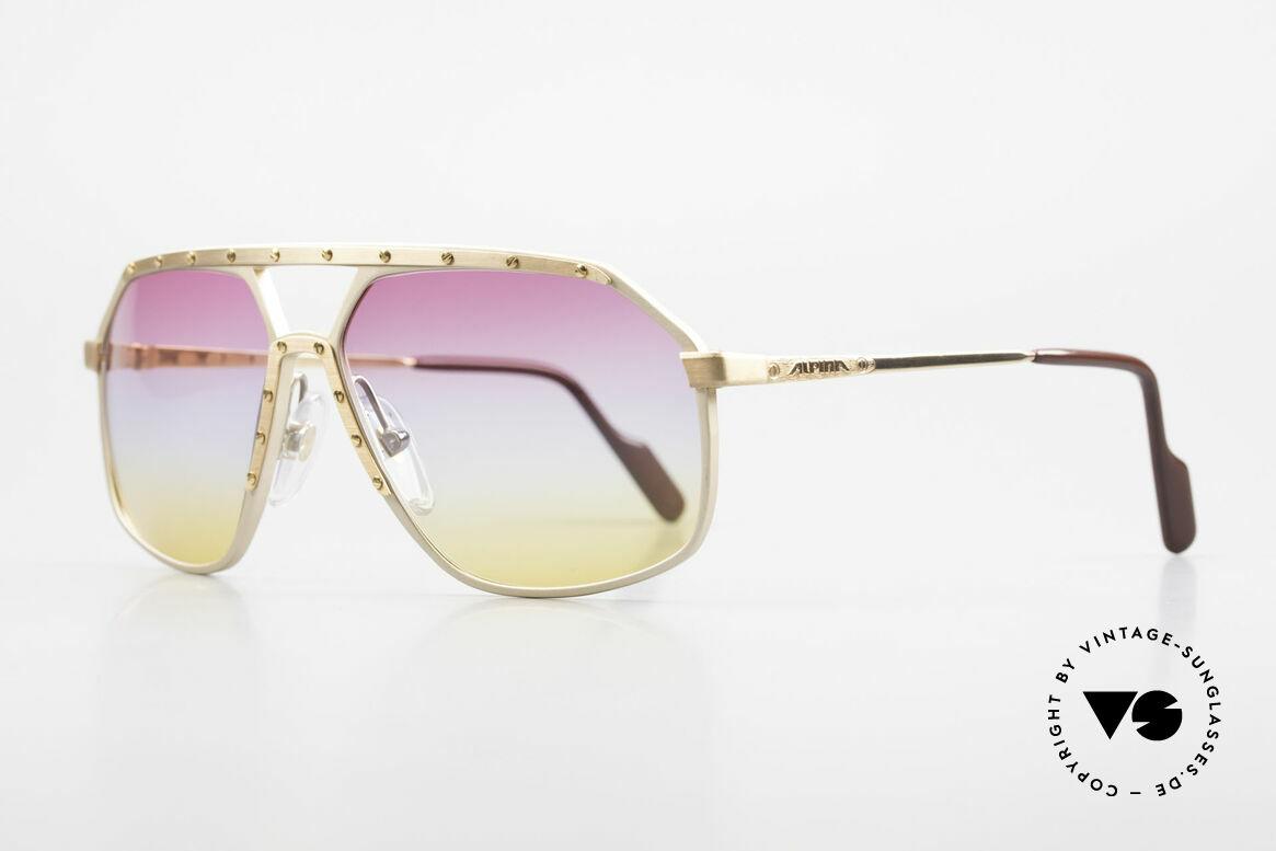 Alpina M6 80er Brillenklassiker Sunset, weltberühmt für sein Schrauben-Design; Gr. 60-14, Passend für Herren und Damen