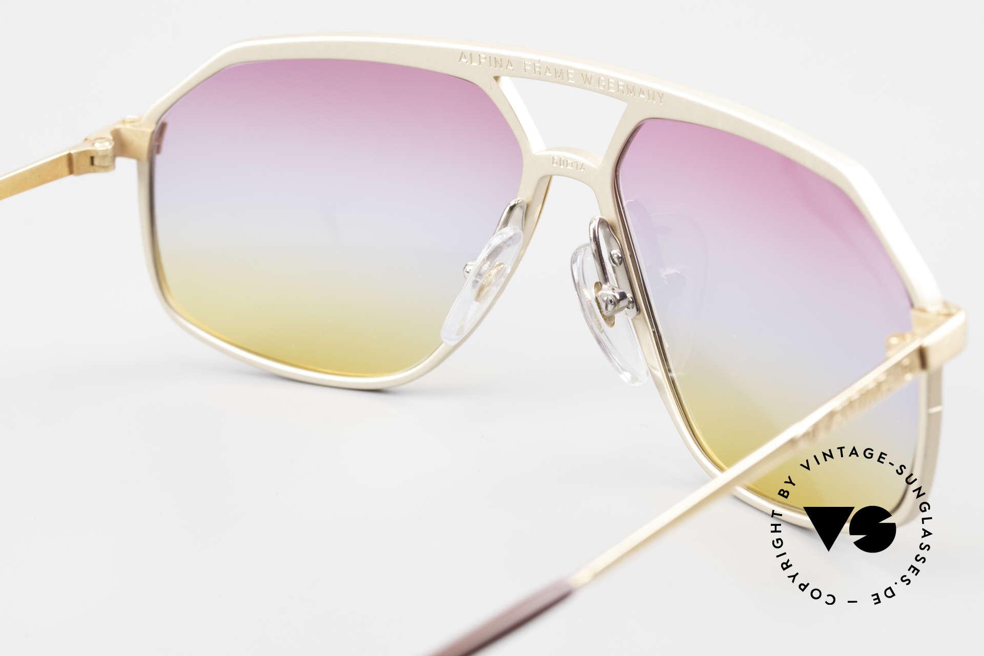 Alpina M6 80er Brillenklassiker Sunset, KEINE RETRObrille; sondern eine VINTAGE Rarität!, Passend für Herren und Damen