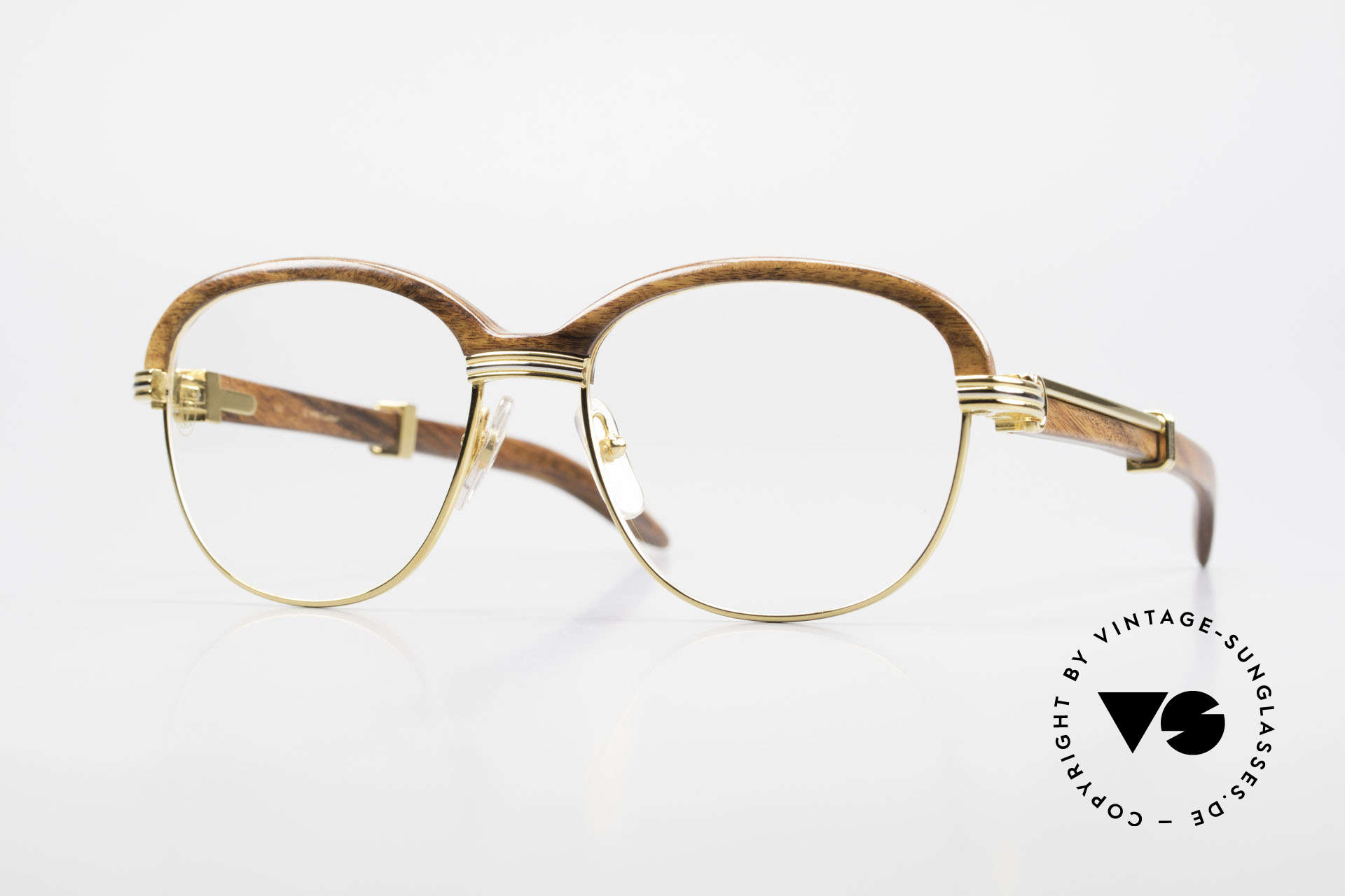 Cartier Malmaison Diego A. Maradona Holzbrille, Cartier Holzbrille, Promibrille und Luxusbrille, Passend für Herren und Damen