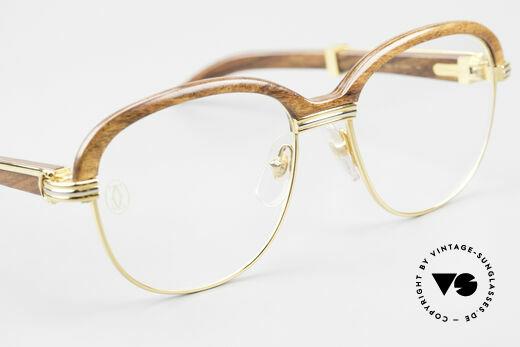 Cartier Malmaison Diego A. Maradona Holzbrille, wir akzeptieren keine Kreditkarten für diese Brille!, Passend für Herren und Damen